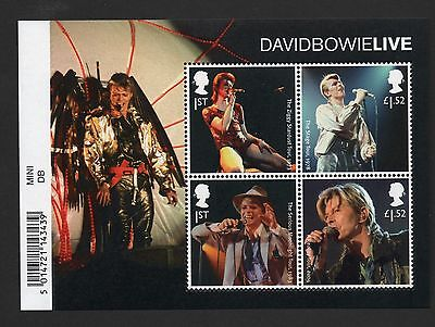 Gb 2017 David Bowie Miniature Stamp Sheet With Barcode