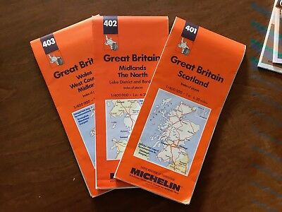 Great Britain Road Map Lot Michelin late 90s