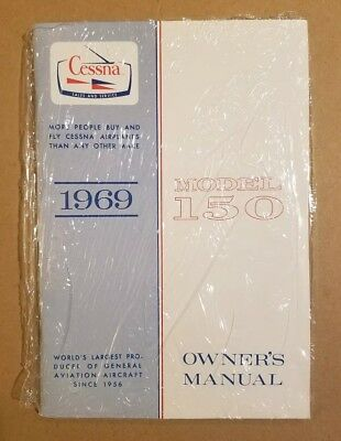 Flawless NOS in wrapper 1969 Cessna 150 Owner's Manual 150J D624-13 Print 8/94