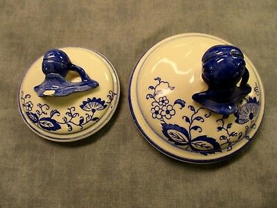 Blue Onion Pottery Canister Lids