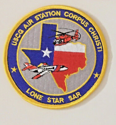 USCG United States Coast Guard Lone Star SAR air station patch 4 in dia #3520