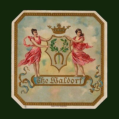 """Lithographic Cigar Label · """"The Waldorf"""" · Vintage"""