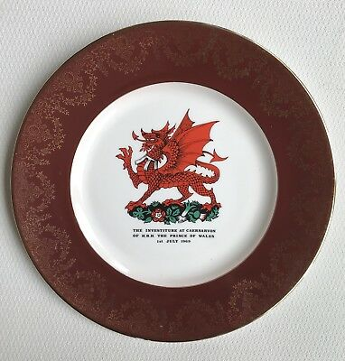 Commemorative Plate The Investiture At Caernavon Of H.R.H The Prince Of Wales