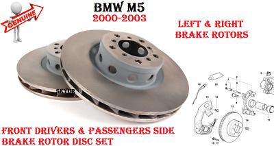 For BMW E39 M5 Disc Brake RotorSet of 2 Front /& Rear+Pads Meyle