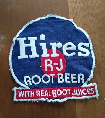 Hires Root Beer 1950's Cloth Uniforn Patch, RARE