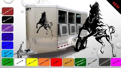 2x Large Horses Horsebox Trailer Vinyl Stickers Signs Decals Graphics (BWP52)