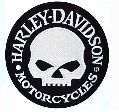 Harley Davidson Willie G Skull, Genuine Jacket Vest Back Patch, Sew On (9 Inch)