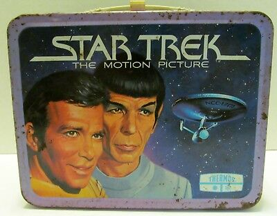 Vintage STAR TREK The Motion Picture Metal LUNCH BOX 1979 KIRK Spock