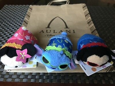 Disney Aulani Tsum Tsum Mickey Minnie Stitch NWT Hawaii Exclusive 100% authentic