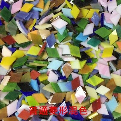 DIY Mosaic Handmade Material Mosaic Tiles triangle Mixed Color Mica glass