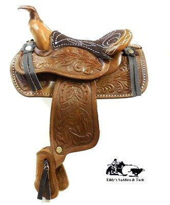 "Decorative Saddle 5"" Seat Western Novelty Brown Large Salesman Sample Size New"
