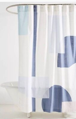 Anthropologie Shower Curtain Carla Weeks Shapeshift
