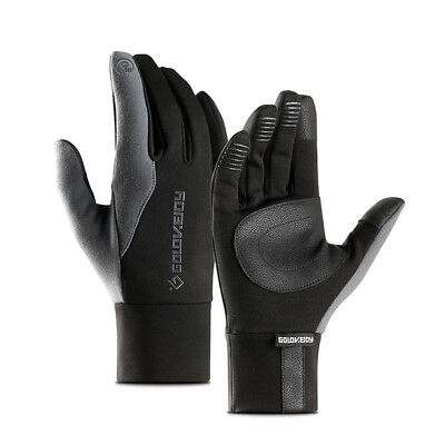 For Mens Women Leather Gloves Touch Screen Thinsulate Lined Driving Warm Gloves
