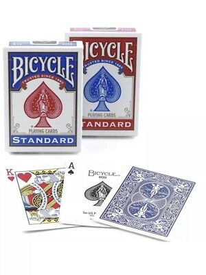 Poker Playing Cards Red & Blue New 2 Decks Bicycle Rider Back 808 Standard