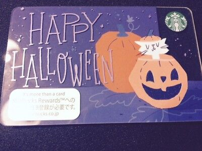 Free Shipping Starbucks Gift Card Japan Happy Halloween New Unused