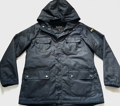"Bnwt Superb Barbour International "" Delta "" Wax Parka Jacket - Small - £195 New"