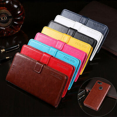 Magnetic Flip Leather Wallet Card Cover Case for Lenovo A5 K5 Note 2018 Play Pro