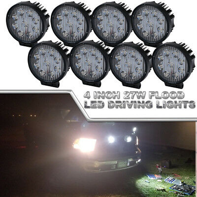 8x 4inch LED Light Bar Flood Work Pods Off road Light Fits Truck Boat Jeep Razor