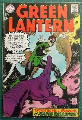 """Green Lantern Vol.2 no.57 """"Catastrophic Weapons Of Major Disaster!"""" Fine"""