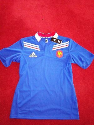 Adidas France Rugby Player Issue Jersey. Size 10 (XL)