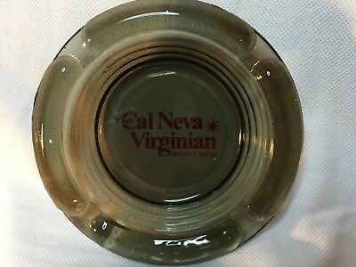"Club Cal Neva Virginian Casino, Reno Nv, Vintage Ashtray, 4.5"" Smoked"