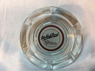 "High Sierra Casino, Lake Tahoe Nv, Vintage Ashtray, 4.25"" Smoked"