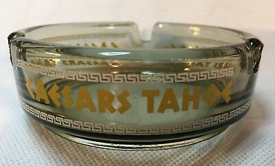 "Caesars Tahoe Casino, Lake Tahoe Nv, Vintage Ashtray, 3.5"", Light Smoked"