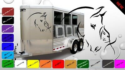 2x Large Girl and Horse Horsebox Trailer Vinyl Stickers Decals Graphics (BWP55)