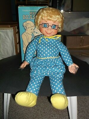 Vintage Mattel Family Affair Mrs. Beasley Doll With Box Mute 1976 So Beautiful