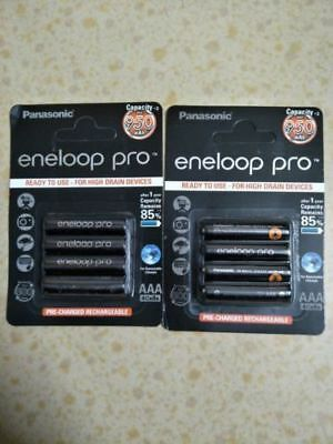 8x Panasonic Eneloop Pro 950mAh AAA High Capacity Rechargeable Batteries New