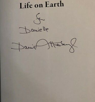 David Attenborough Signed The Greatest Story Ever Told  Life On Earth Dedicated