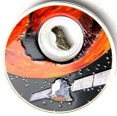 2017 Niue Mission to Mars 1oz.999 Proof Silver Coin w/ encapsulated meteorite