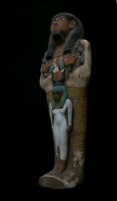 EGYPTIAN ANTIQUES EGYPT STATUE Large Ushabti Hathor Shabti God Limestone 1336 BC