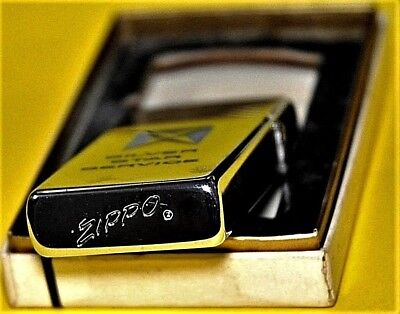 1964 Vintage Zippo Slim Lighter 2 Sided Etch & Paint Graphics w/Original Box