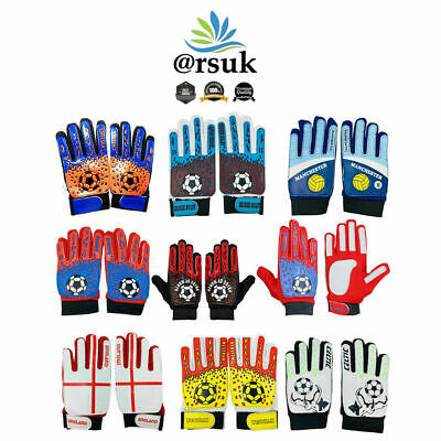 Goalkeeper Gloves for Football Boys Kids Junior Sports Soccer Goalie for 9-12yrs