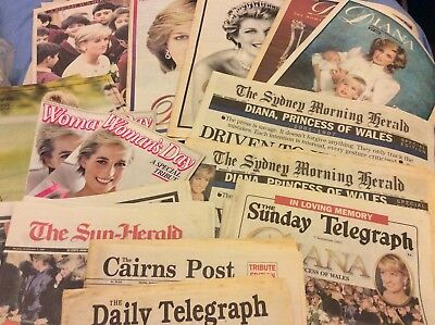 1997/98 Princess Diana Tribute Newspaper Articles - Bulk Lot