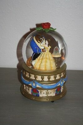 Rare Disney Store Beauty and the Beast Large Snowglobe