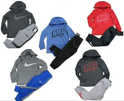 Nike TD Boys 2 Piece Jogger Set Hoodie Pants Outfit Size 12, 18, 24 Months 2T 4T