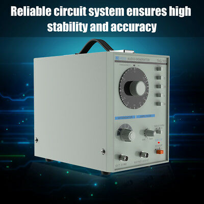 220V TAG-101 Low Frequency Audio Signal Generator Signal Source 10Hz-1MHz +Cable