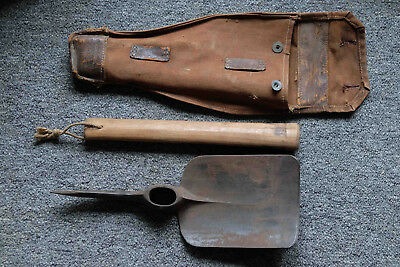 French WWI E tool. Original Canvas bag! Field Gear not Helmet.