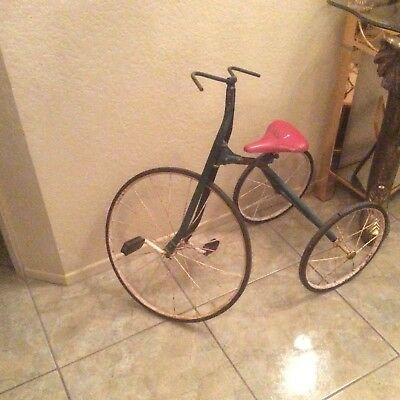 Antique Victorian Tricycle Late 1800's or 1900's Working Very Good Condition