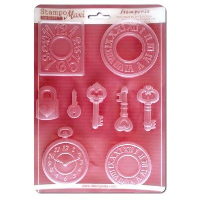 Stamperia Soft Maxi Mould / Mold A4 21cm x 29.7cm - Watches  K3PTA409 New