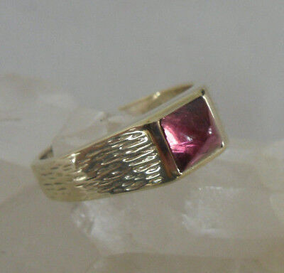 toller Ring, Gold 585, roter Stein, 4,90 g, Gr.54