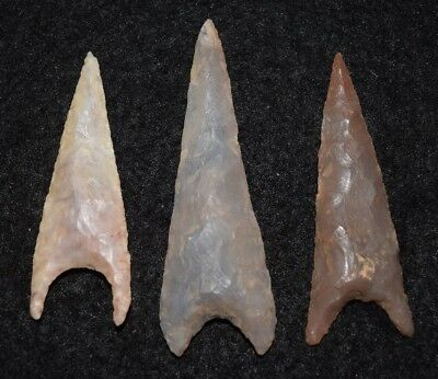 3 nice Sahara Neolithic triangular projectile points