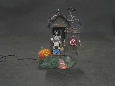 Halloween Department 56 Village Accessory Haunted Outhouse 2002