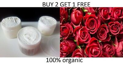 Rose Organic Body Butter with Olive Oil, Coconut Oil, Shea & Cocoa Butter