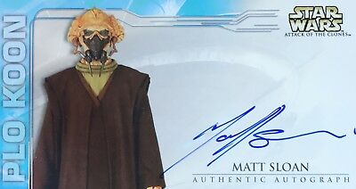 Matt Sloan Autograph (Plo Koon) - Attack Of The Clones Trading Card Star Wars