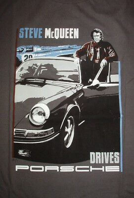 "Porsche Drivers Selection T-Shirt ""Steve McQueen Drives Porsche"" Gr.EU XXL/US XL"