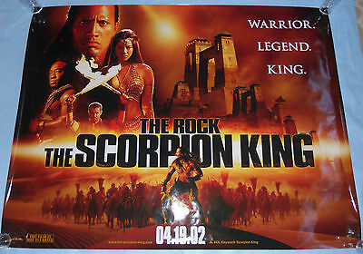 "The Scorpion King (2002) 60"" x 46"" Movie Poster The Rock Michael Clarke Duncan"