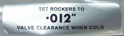"""Classic Austin Healey MGB GT Rover Cover Valve Clearance Sticker Label 0.12"""""""